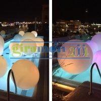Globo gigante con luz led