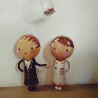 Regalo para bodas con globos