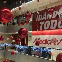 Decoración centros comerciales Globos de foil