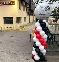 Columnas de globos con globo foil personalizado