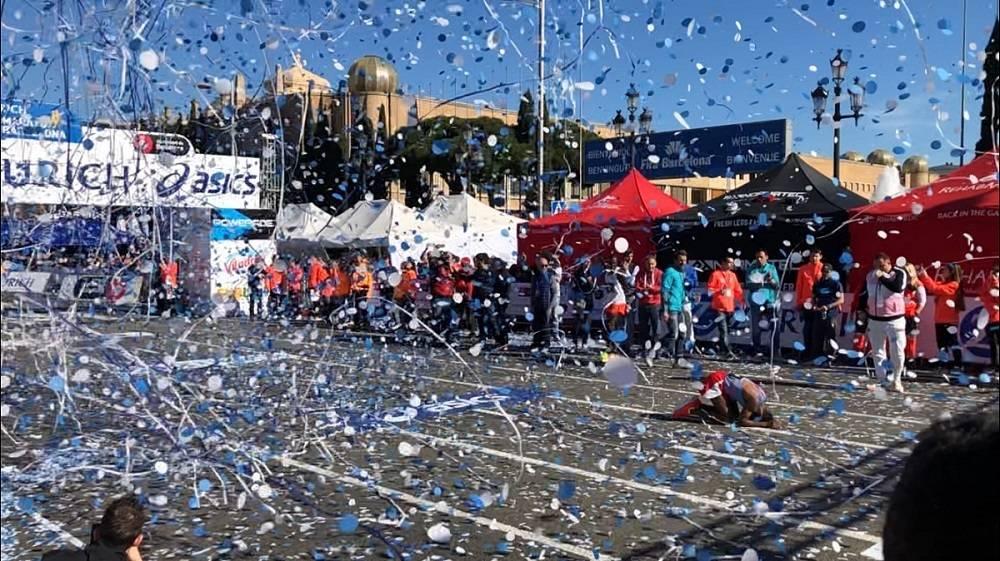 Tiro de confeti para eventos deportivos