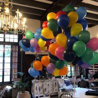 entrega de globos con helio para fiestas