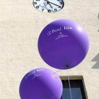 globos gigantes impresos punto lila