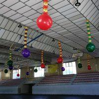 decoración con globos polideportivo