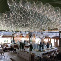 globo transparente impreso con helio