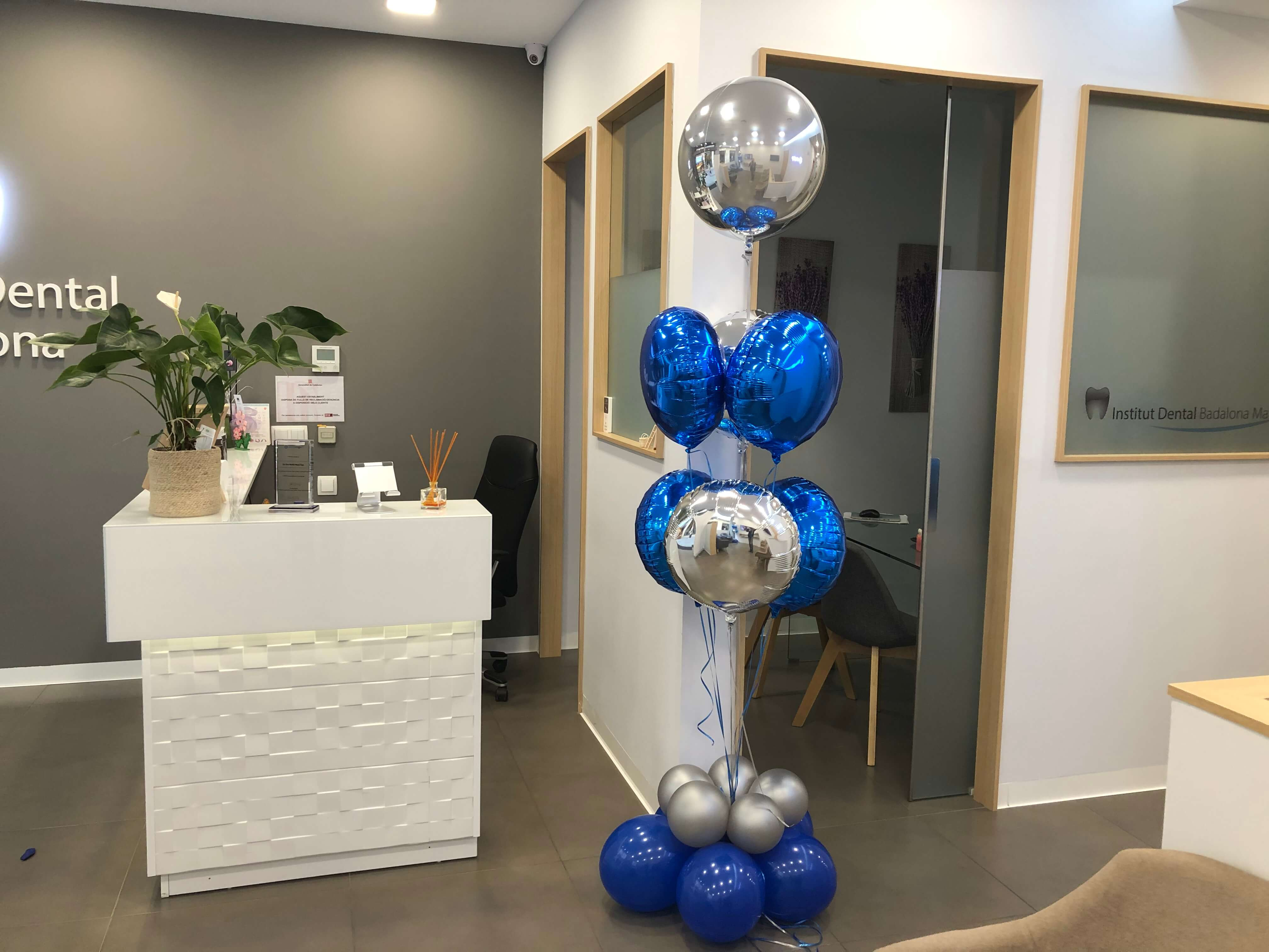 Ramo de globos de foil con helio