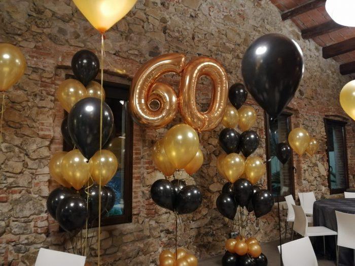 Ramos con globos 60 cumpleaños