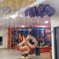 decoración globos 50 aniversario