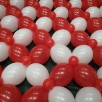 malla de globos para decoración