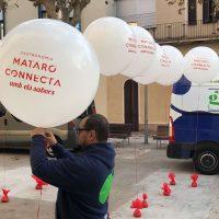 globo gigante impreso con helio para publicidad