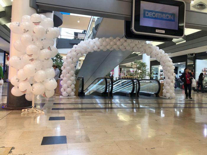 globo impreso para centros comerciales