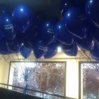 publicidad con globos de helio