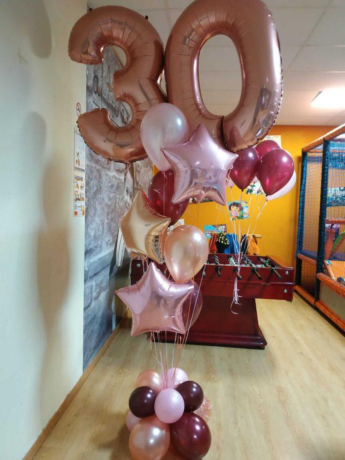 Ramo de globos 30 años
