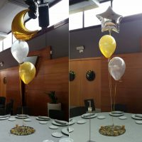 Ramos de globos para cena fin de año