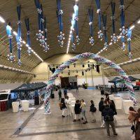 arco de globos de grandes espacios para pavellones y grandes espacios