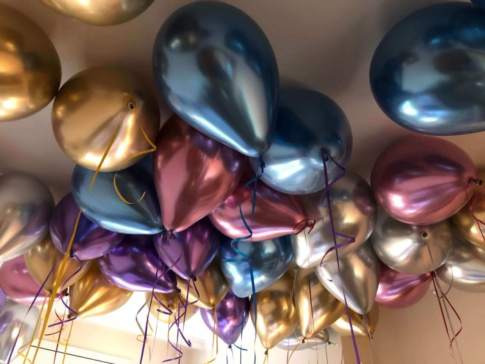 Globos para decoración. Gama chrome efecto cromado de la marca Qualatex