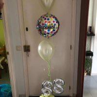 Ramo de globos cumpleaños con cifra