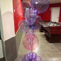 ramo de globos crystal clearz Anagram y cristal pastel sempertex