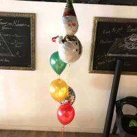 ramo de globos muñeco de navidad