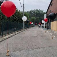 Globos gigantes para señalización caminos con peso ropa saco