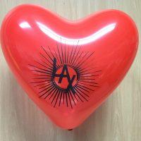 globo forma corazón impreso personalizado