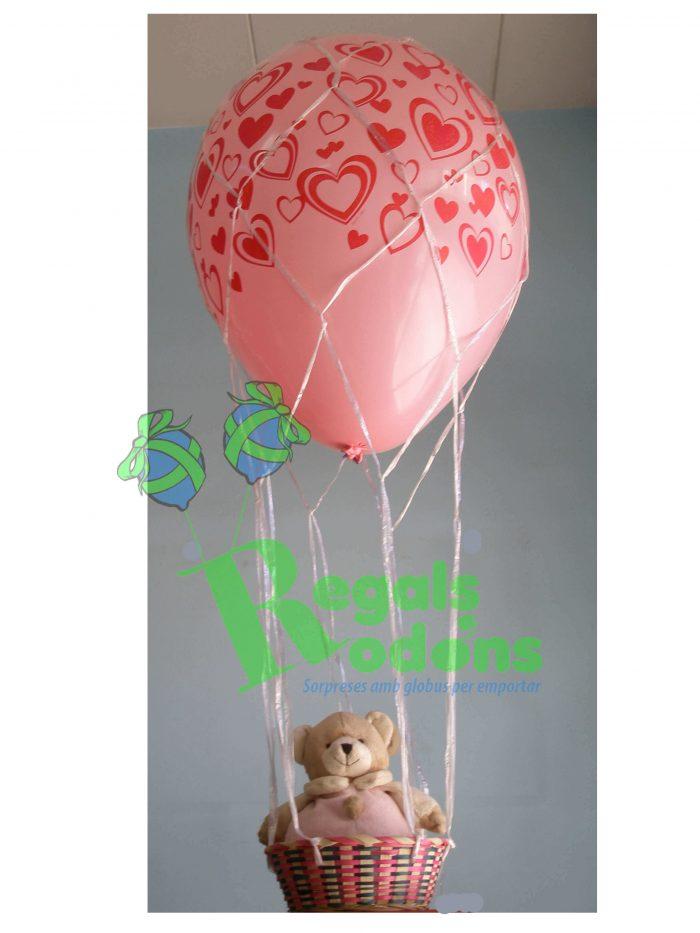 Aerostático love con globo de 40cm. Ref309