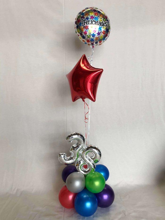 Ramo globos cumpleaños Ref 311