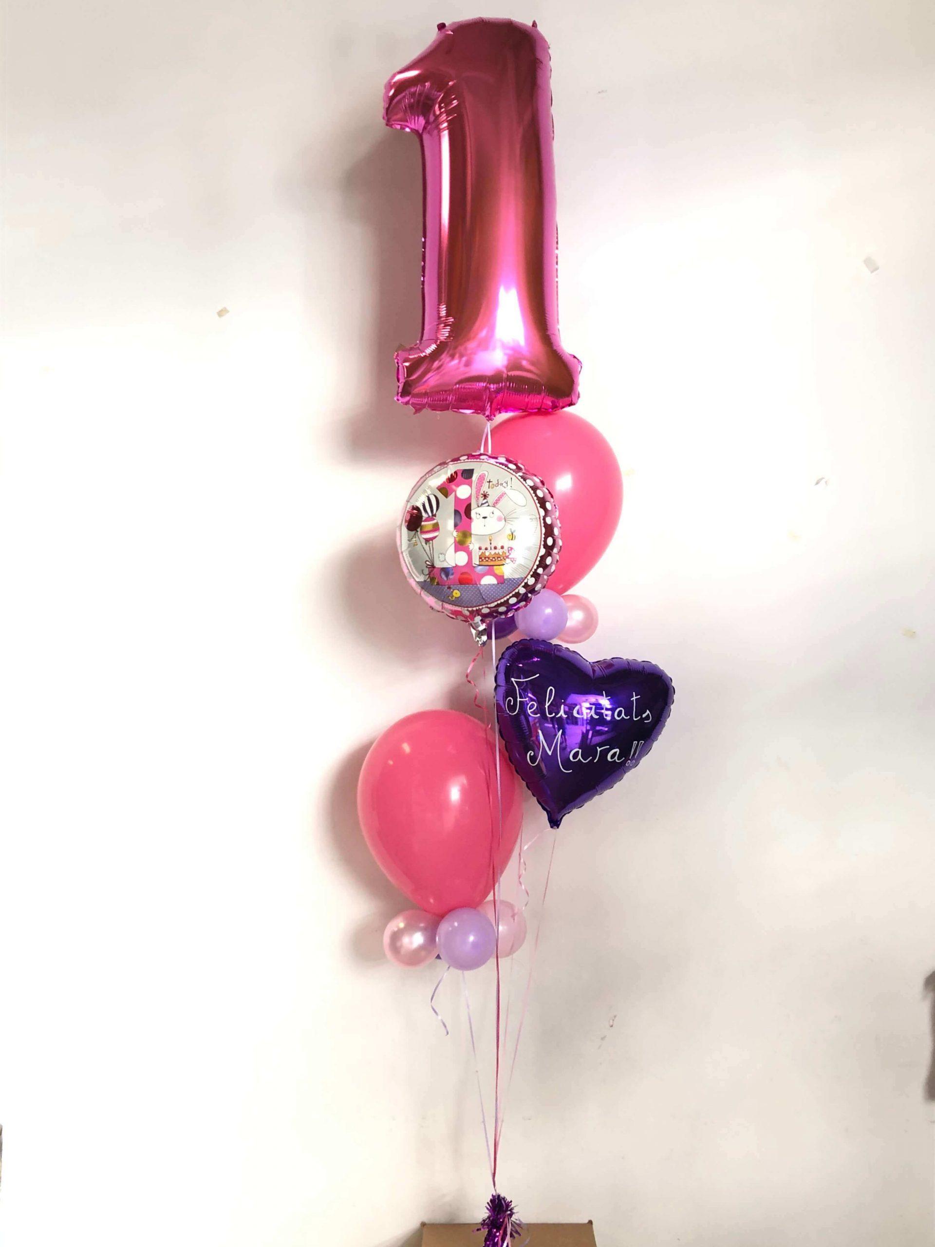 Bouquet de globos primer aniversario. Ref 309