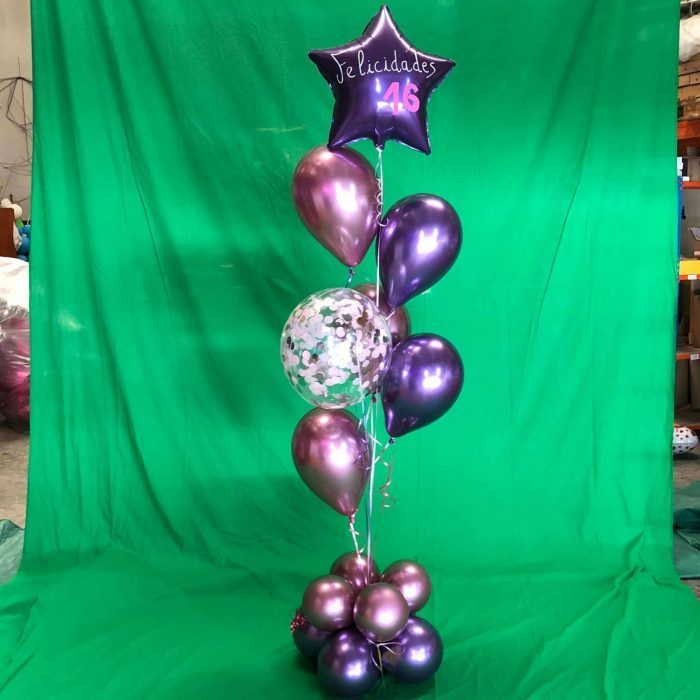 Ramo globos chrome-efecto cromado