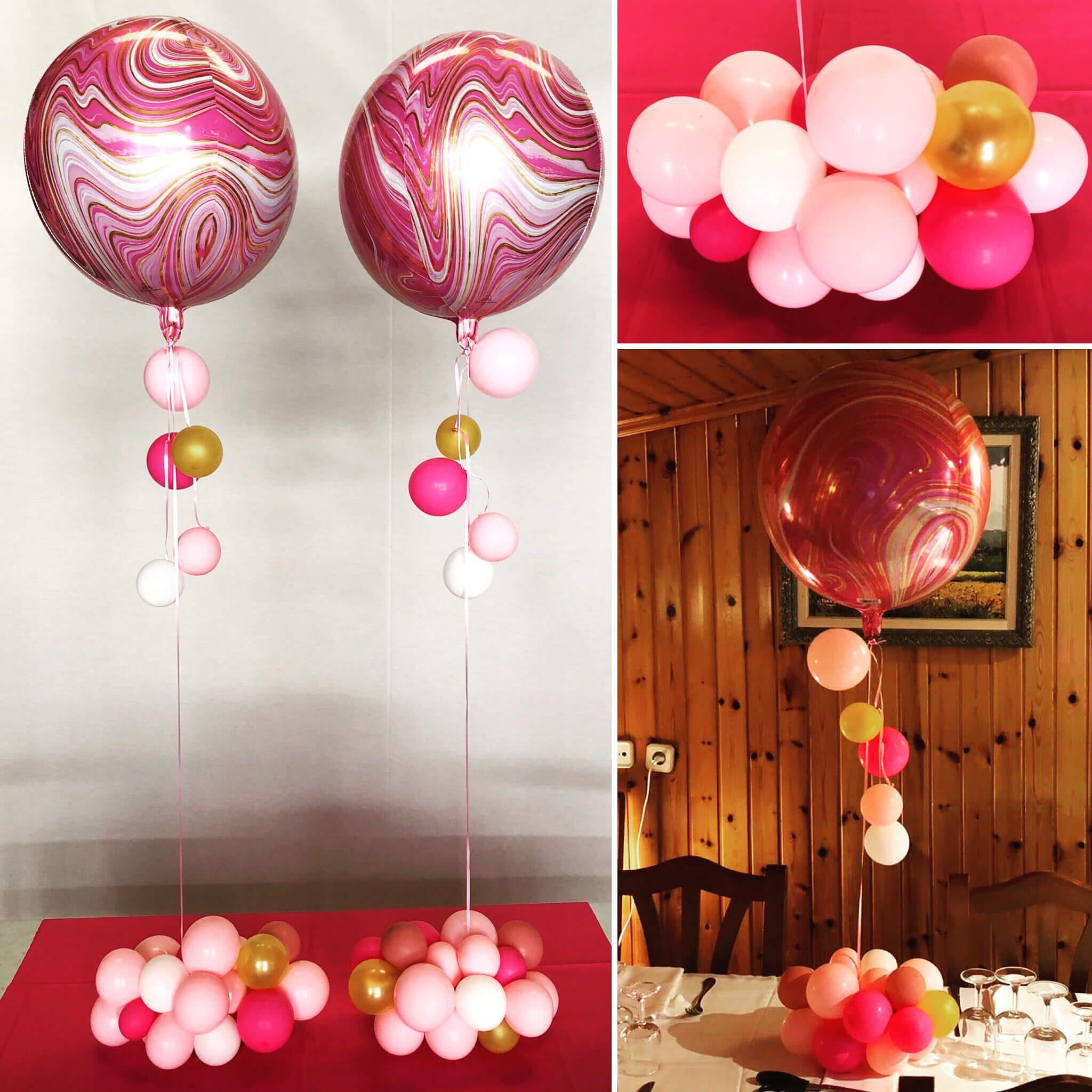 Centros de mesa con globos elegantes