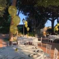 centros de mesa con globos de helio