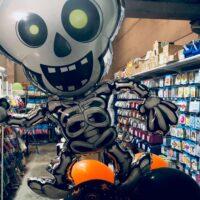 Esqueleto de foil para decoración Halloween