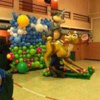 Mural con globos