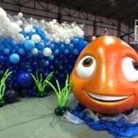 Murales de globos temáticos para photocalls