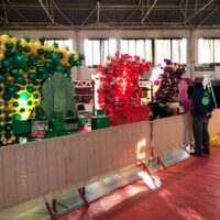 paredes de globos para fondos escenario