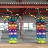 Columnas de globos locas