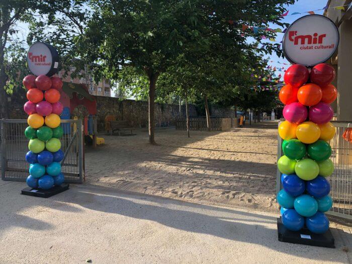 Columnas de globos de pvc reciclado para larga duración en exterior