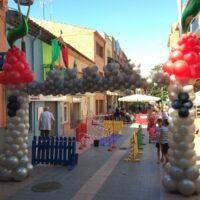 Entrada castillo con globos